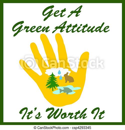 green attitude - csp4293345