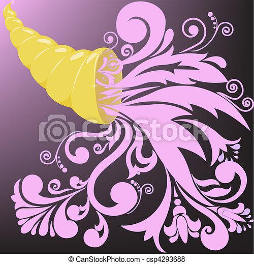 golden horn of plenty - csp4293688