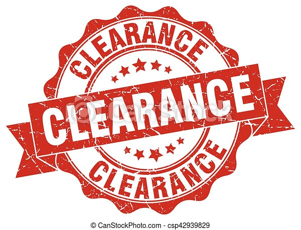 clearance stamp. sign. seal - csp42939829