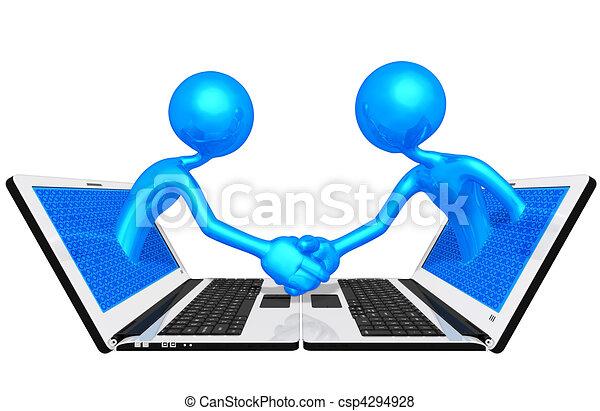 WWW Online Handshake Business - csp4294928