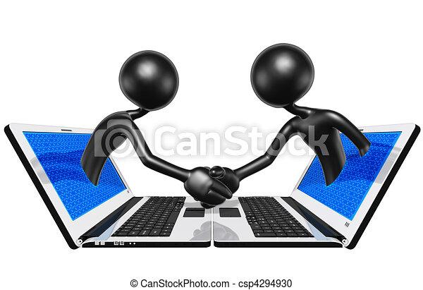 WWW Online Handshake Business - csp4294930