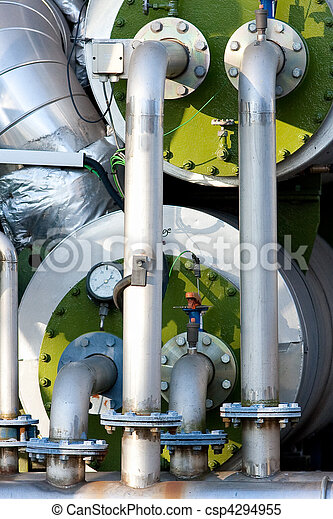 Green Industrial Boilers and Pipes - csp4294955