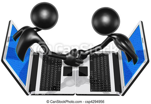 WWW Online Handshake Business - csp4294956