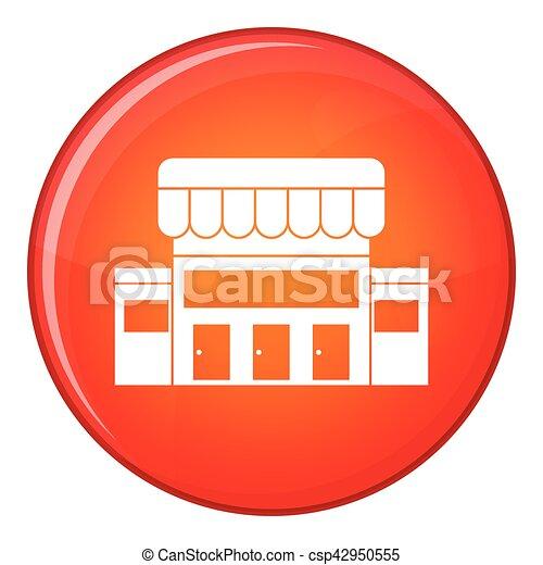 Supermarkt gebäude clipart  Clipart Vektor von gebäude, ikone, stil, supermarkt, wohnung ...