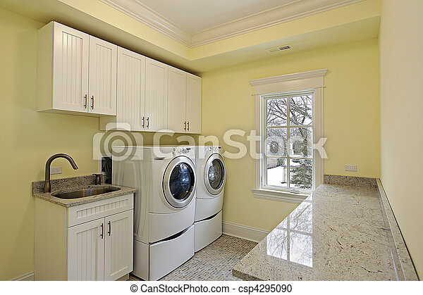 Laundry room in luxury home - csp4295090