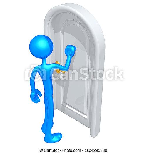 Knocking On A Door  - csp4295330
