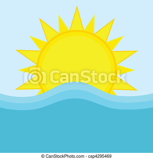 Sun and ocean - csp4295469