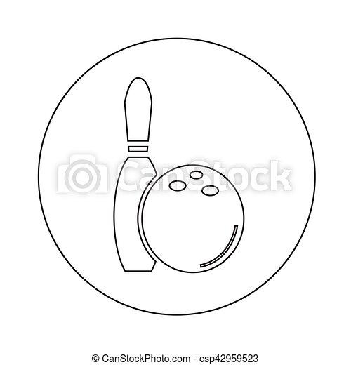 bowling icon illustration design - csp42959523