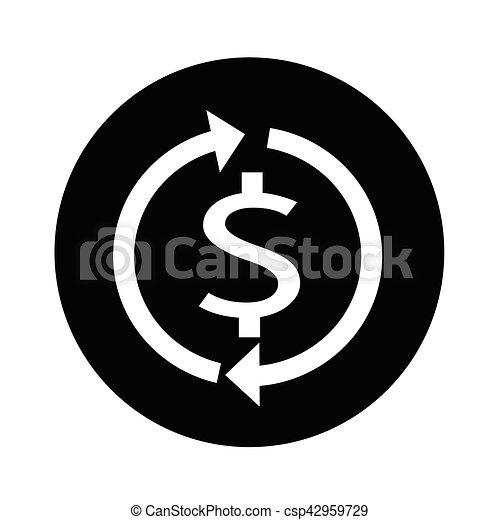 Money dollar sign icon illustration design - csp42959729