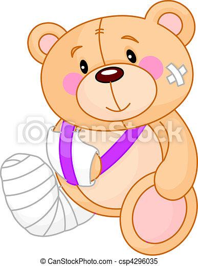 Get well Teddy Bear - csp4296035