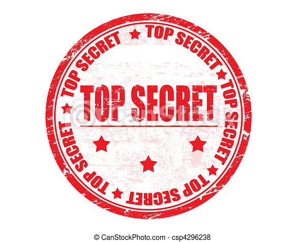 Top secret stamp - csp4296238