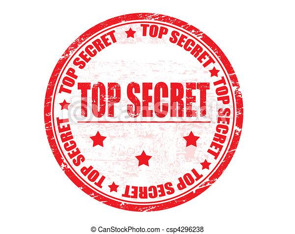 Top secret stamp - csp4296238