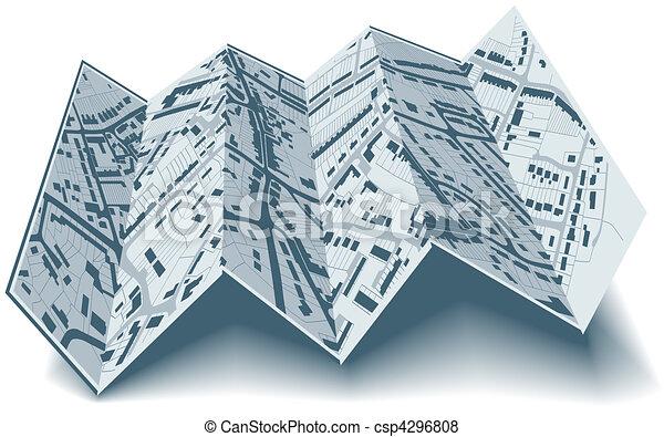 Folding street map - csp4296808