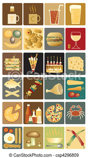 Food icons - csp4296809
