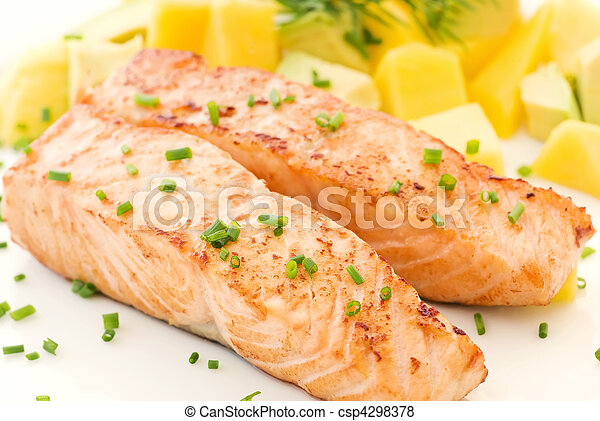 Salmon with Fruits - csp4298378