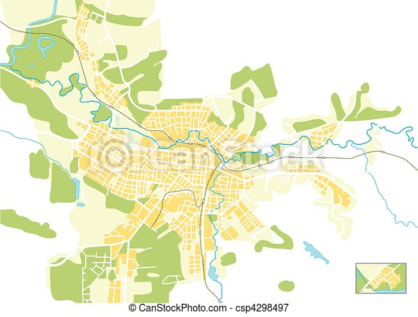 Vector map of the city - csp4298497