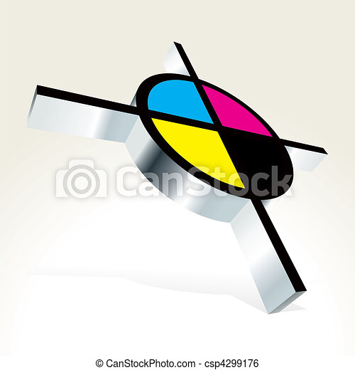3D CMYK target - csp4299176