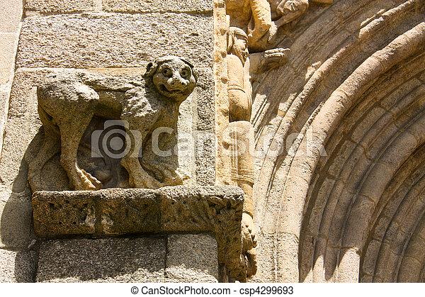monumental detail of Cathedral Santiago de Compostela - csp4299693