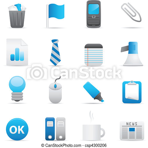 Office Icons Set | Indigo Series 02 - csp4300206