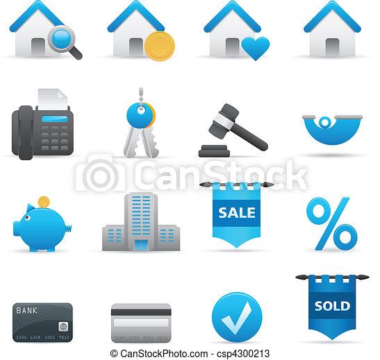 Real State Icons Set | Indigo 01 - csp4300213
