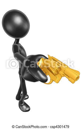 Aiming A Gun  - csp4301479