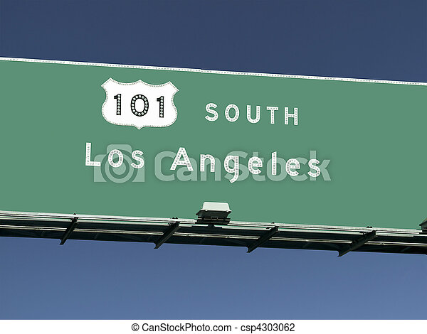 Los Angeles 101 Freeway Sign - csp4303062