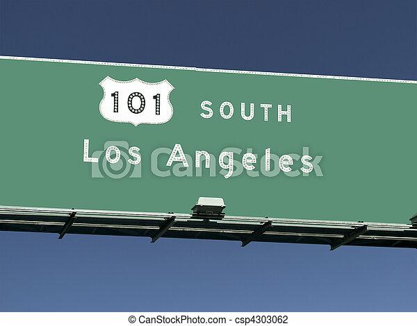 Los Angeles 101 Freeway Sign - csp4303062