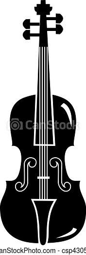 violin silhouette - csp4305209