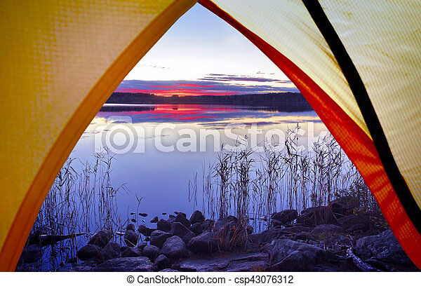 Camping in the nature - csp43076312