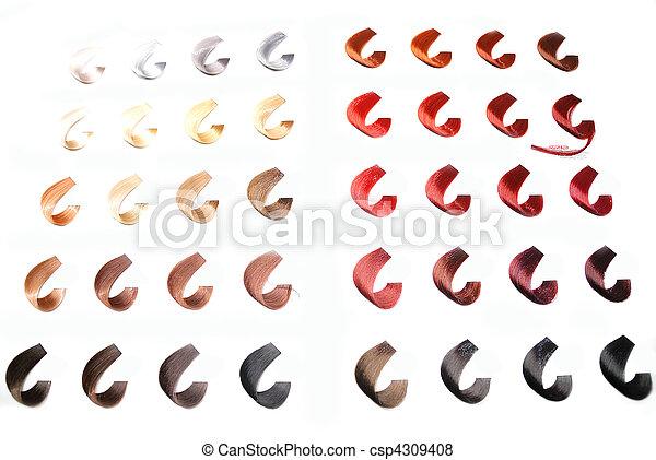 hair colors sample - csp4309408