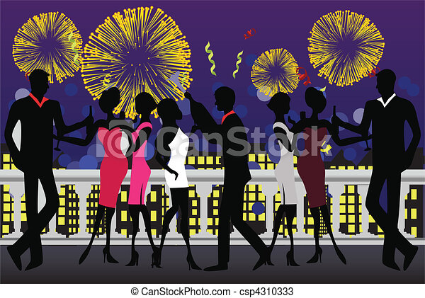 New Year Party Celebration - csp4310333