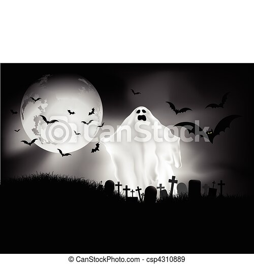 halloween night - csp4310889