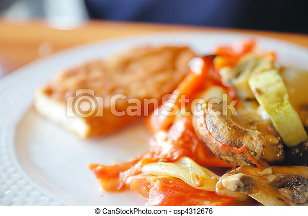 low-fat and healthy meal - csp4312676