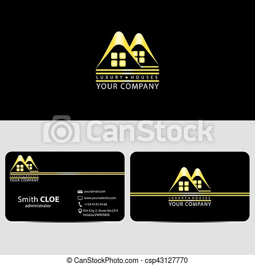 vector chalet empresa negocio casas lujo logotipo tarjeta
