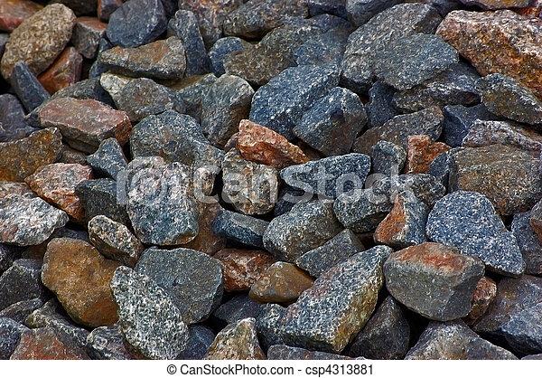 Crushed rocks macro pattern - csp4313881
