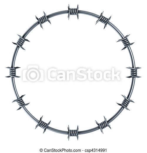barbed wire circle-shaped - csp4314991