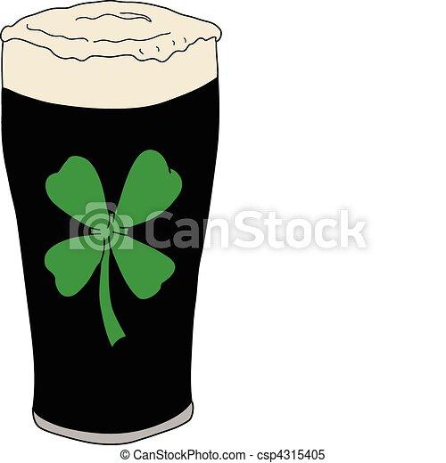Lucky Irish Pint Of Beer - csp4315405