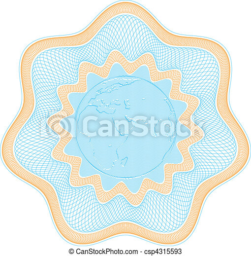 Embossed globe rosetta - csp4315593