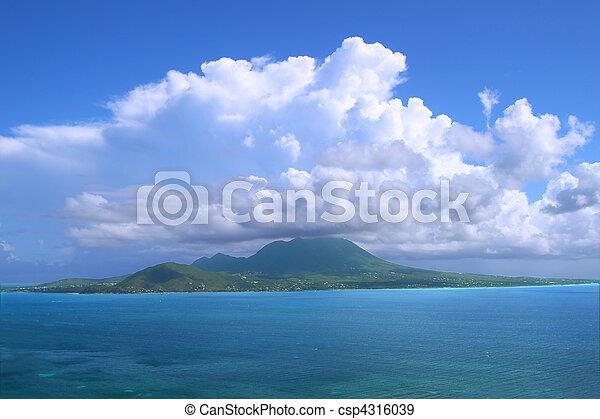 Caribbean island of Nevis - csp4316039