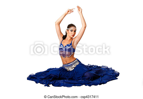 Belly dancer sitting on floor - csp4317411