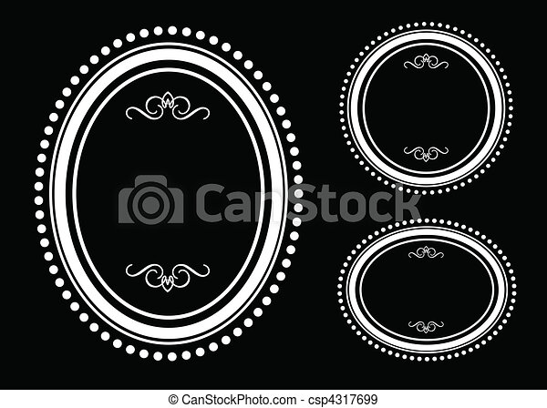 Vector Oval Dot Frame Set - csp4317699