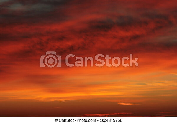 Sunrise cloudy sky - csp4319756