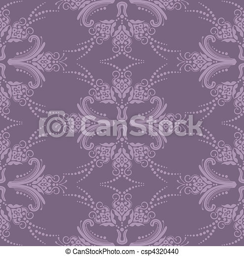 Luxury purple floral wallpaper - csp4320440