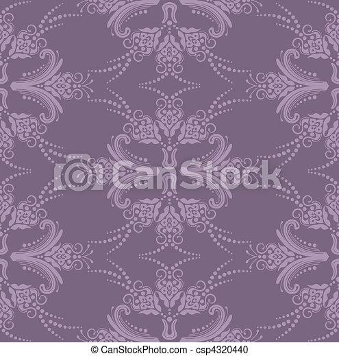 Luxury purple floral wallpaper - csp4320440