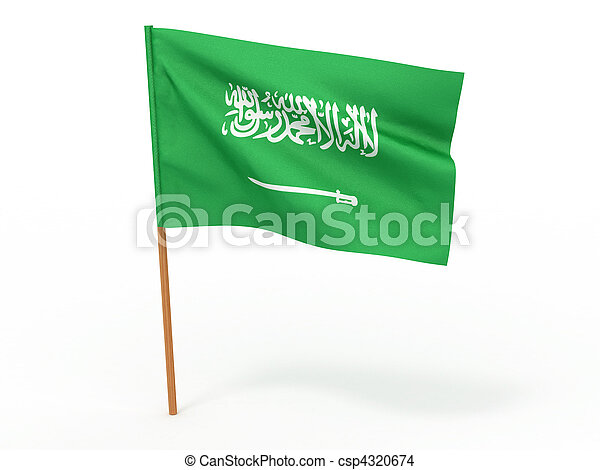 flag of Saudi Arabia. 3d - csp4320674