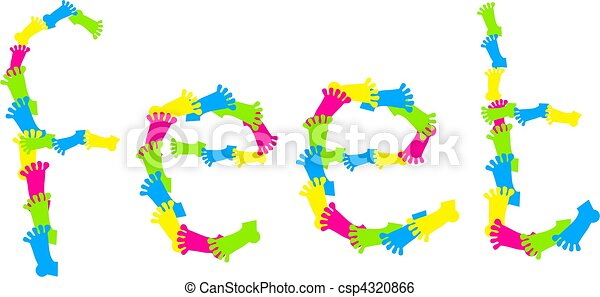 Feet Title - csp4320866