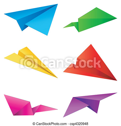 Paper airplanes. - csp4320948