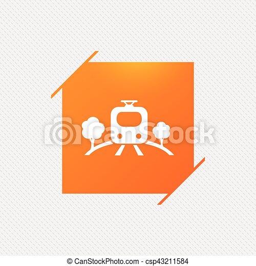 Overground sign icon. Metro train symbol. - csp43211584