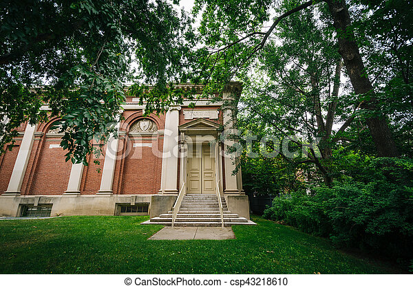 Lowell Lecture Hall, at Harvard University, in Cambridge, Massachusetts.