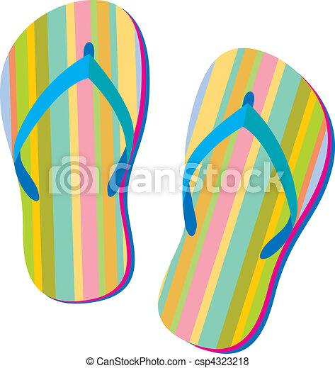 vector of summer sandals summer retro flip flops in flip flops clip art beach flip flops clip art cut out